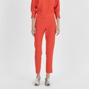Rachel Comey Red Slither Textured Crepe Pants